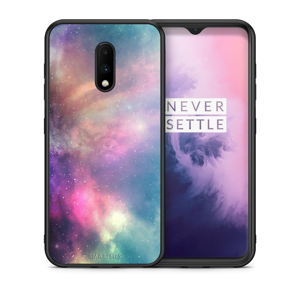 105 - OnePlus 7 Rainbow Galaxy case, cover, bumper