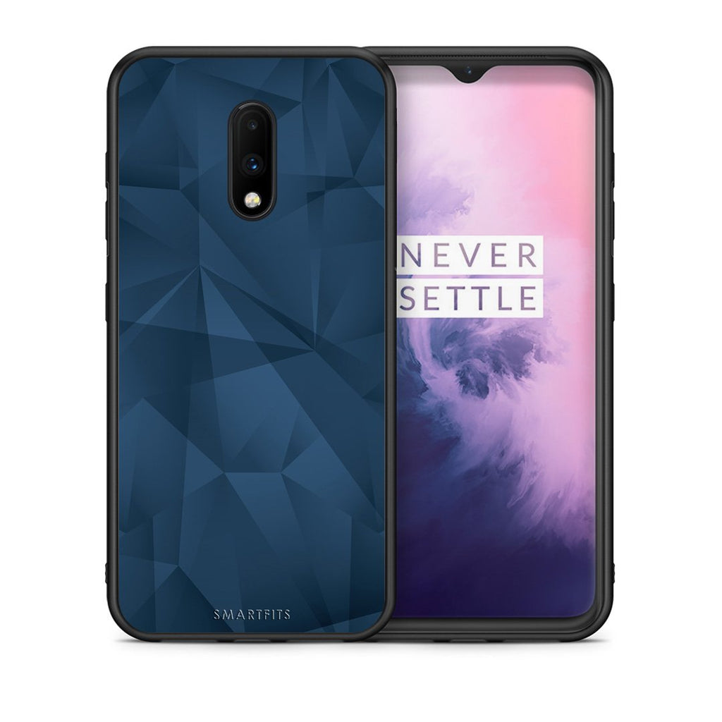 39 - OnePlus 7 Blue Abstract Geometric case, cover, bumper