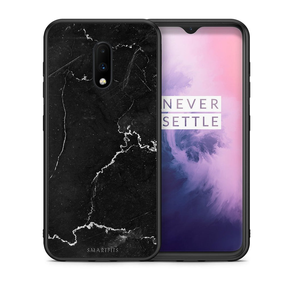 1 - OnePlus 7 black marble case, cover, bumper