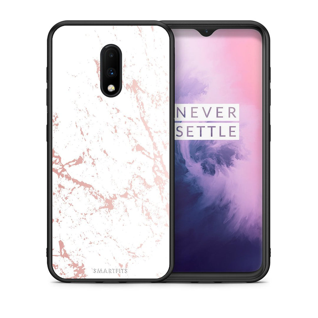 116 - OnePlus 7 Pink Splash Marble case, cover, bumper