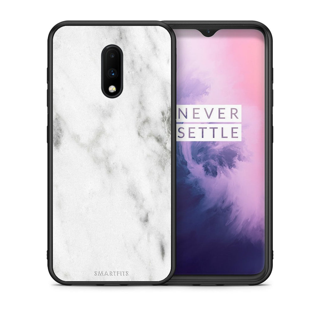 2 - OnePlus 7 White marble case, cover, bumper