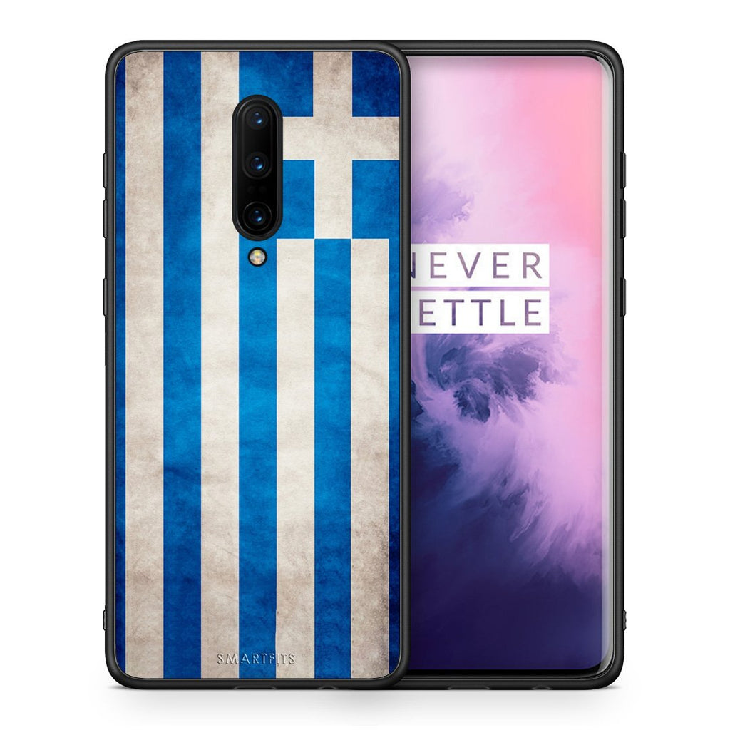4 - OnePlus 7 Pro Greece Flag case, cover, bumper