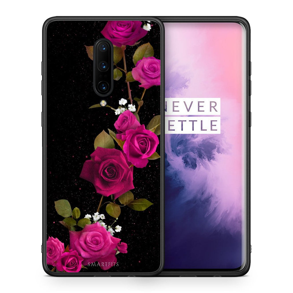 4 - OnePlus 7 Pro Red Roses Flower case, cover, bumper
