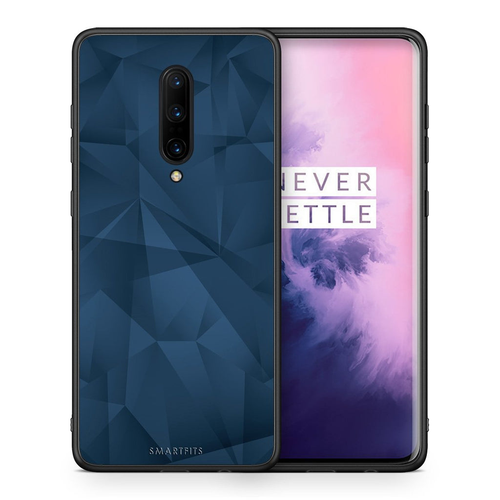 39 - OnePlus 7 Pro Blue Abstract Geometric case, cover, bumper