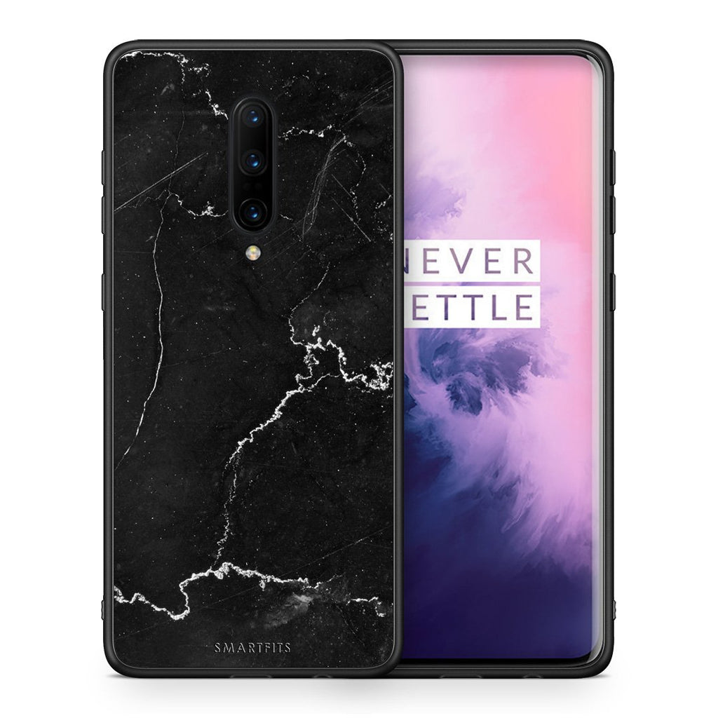 1 - OnePlus 7 Pro black marble case, cover, bumper