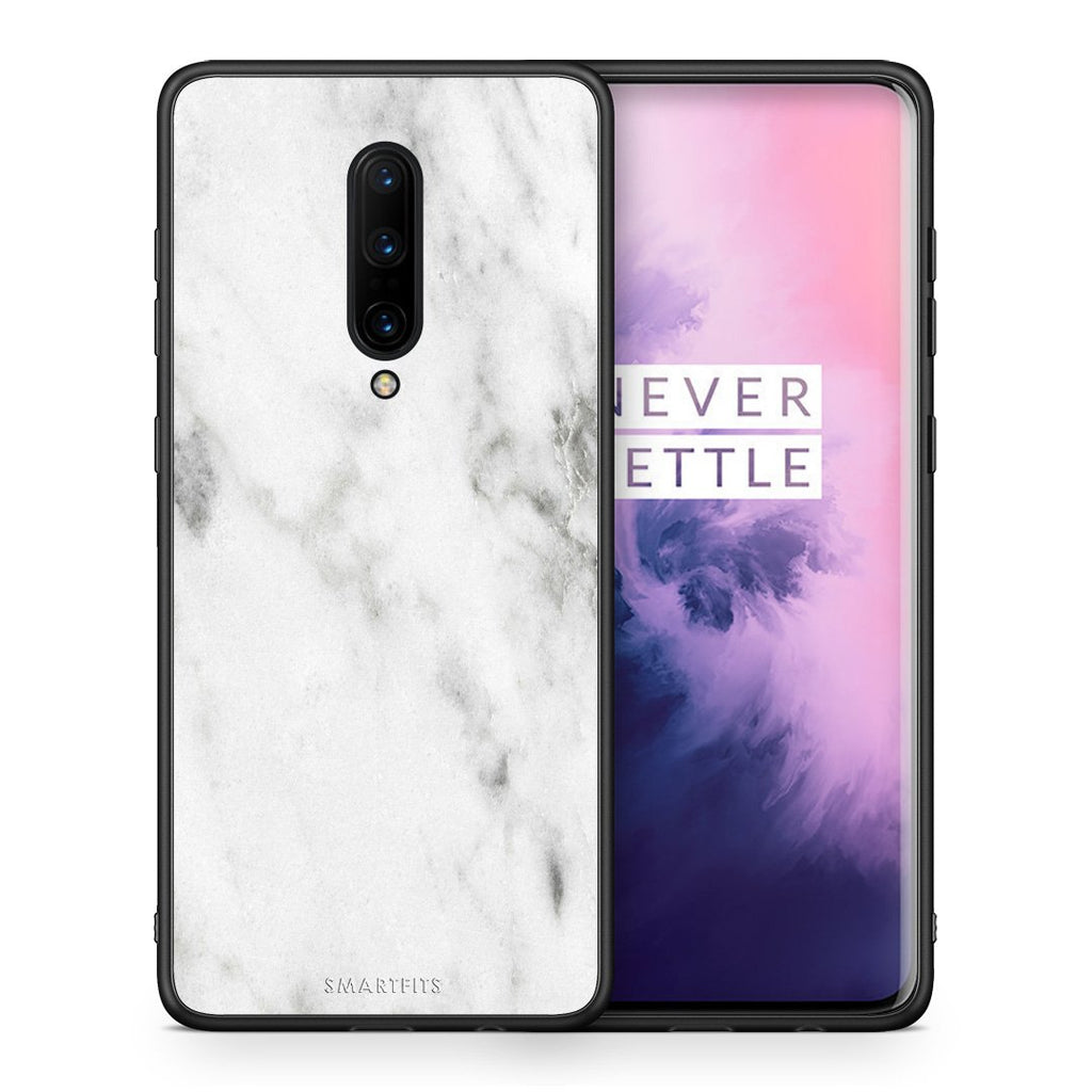 2 - OnePlus 7 Pro White marble case, cover, bumper