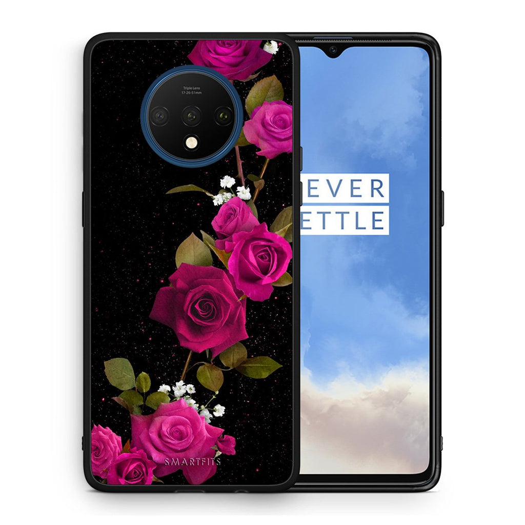 4 - OnePlus 7T Red Roses Flower case, cover, bumper