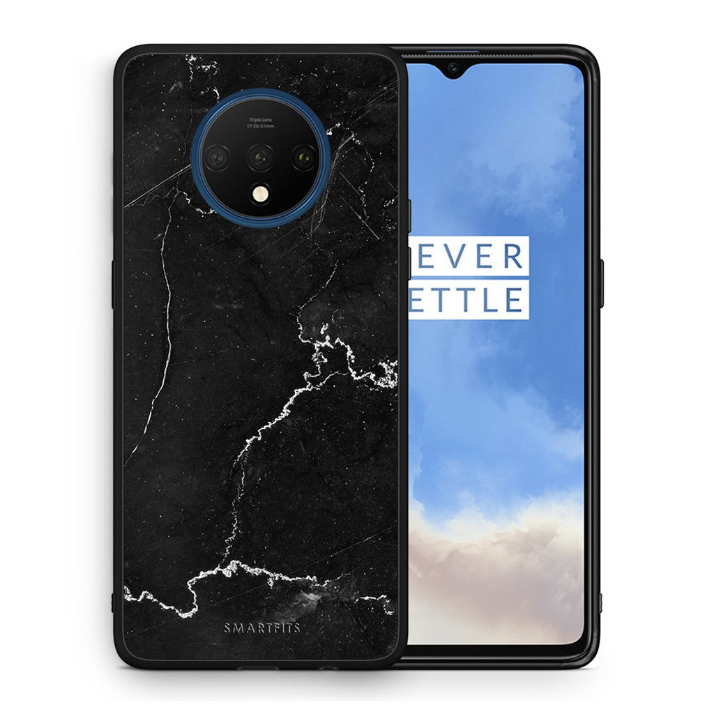 1 - OnePlus 7T  black marble case, cover, bumper