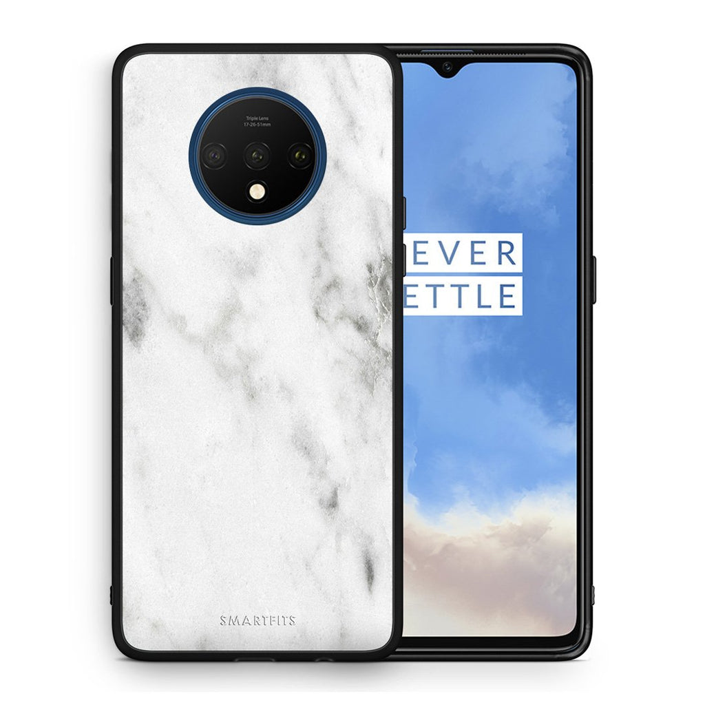 2 - OnePlus 7T  White marble case, cover, bumper