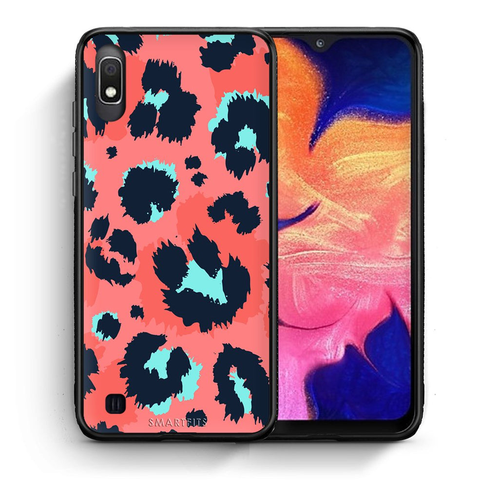 22 - Samsung A10  Pink Leopard Animal case, cover, bumper