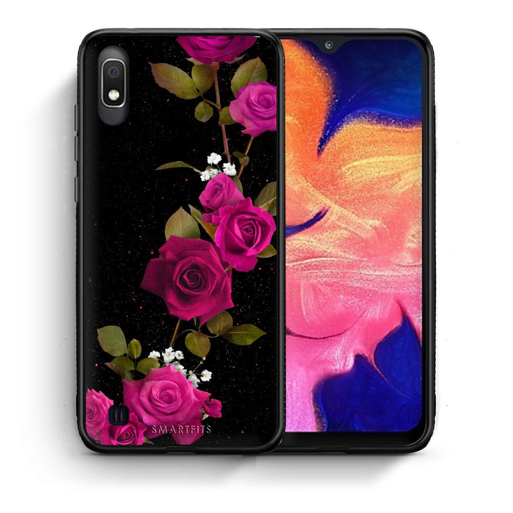 4 - Samsung A10 Red Roses Flower case, cover, bumper