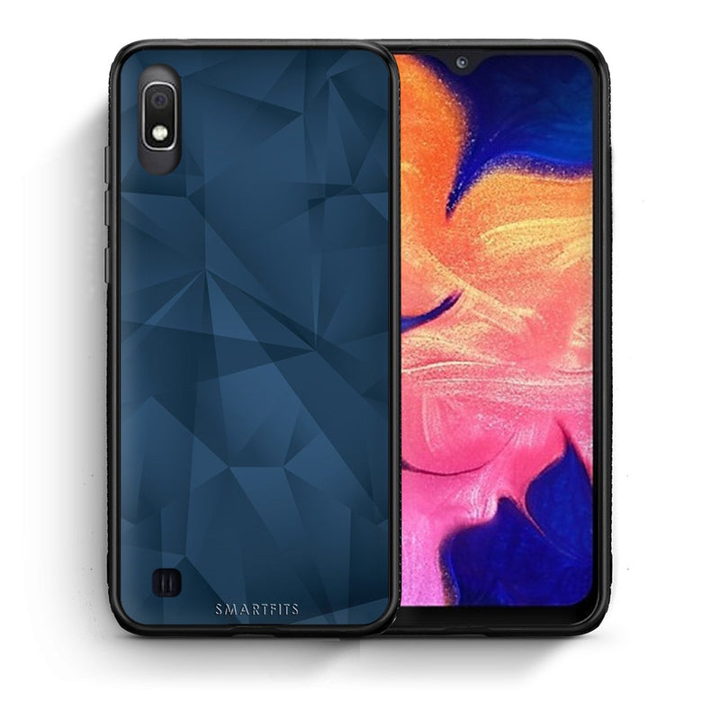 39 - Samsung A10  Blue Abstract Geometric case, cover, bumper