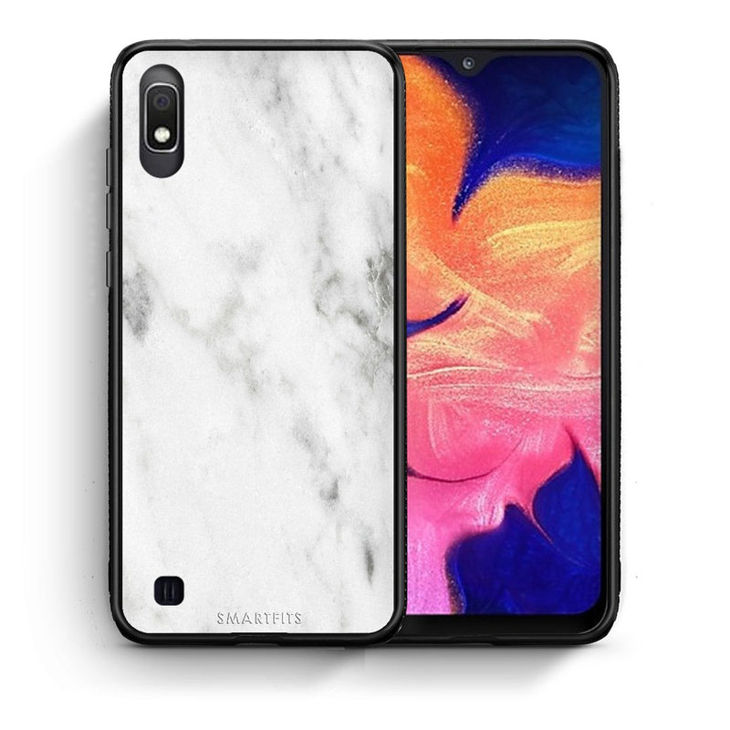 2 - Samsung A10  White marble case, cover, bumper