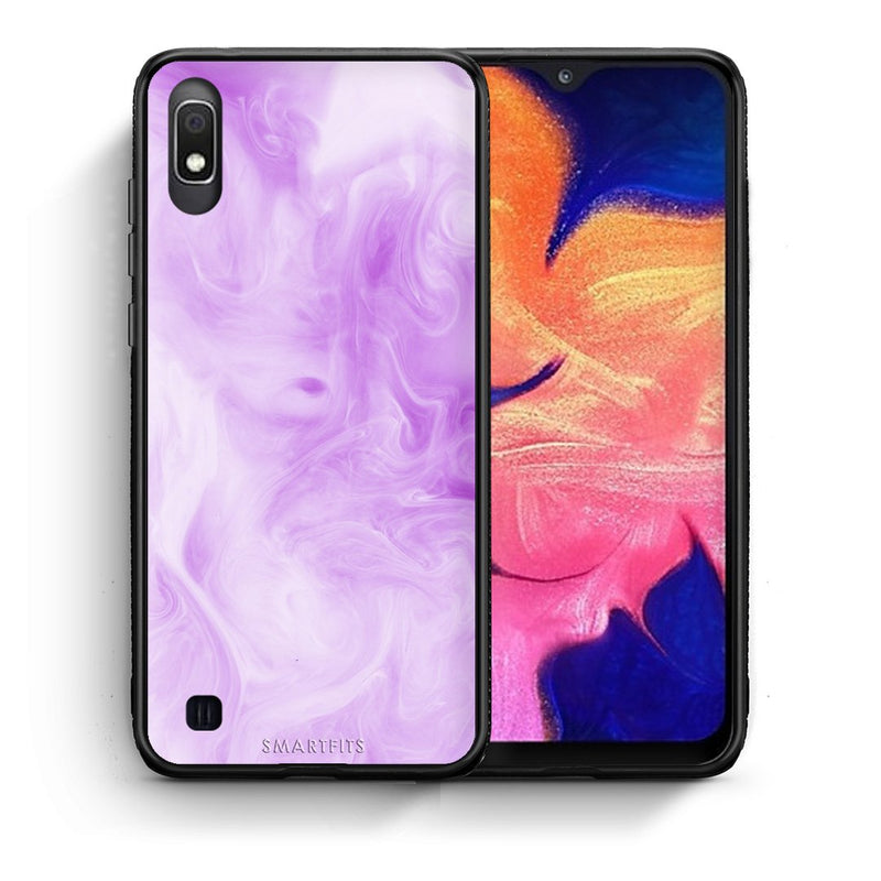 99 - Samsung A10  Watercolor Lavender case, cover, bumper