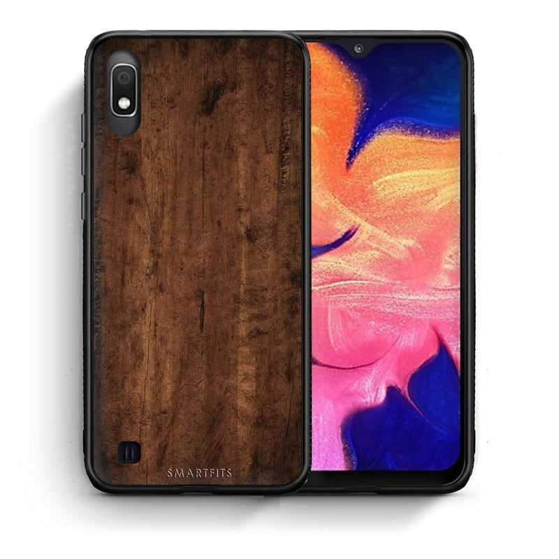 84 - Samsung A10  Dark Wood case, cover, bumper