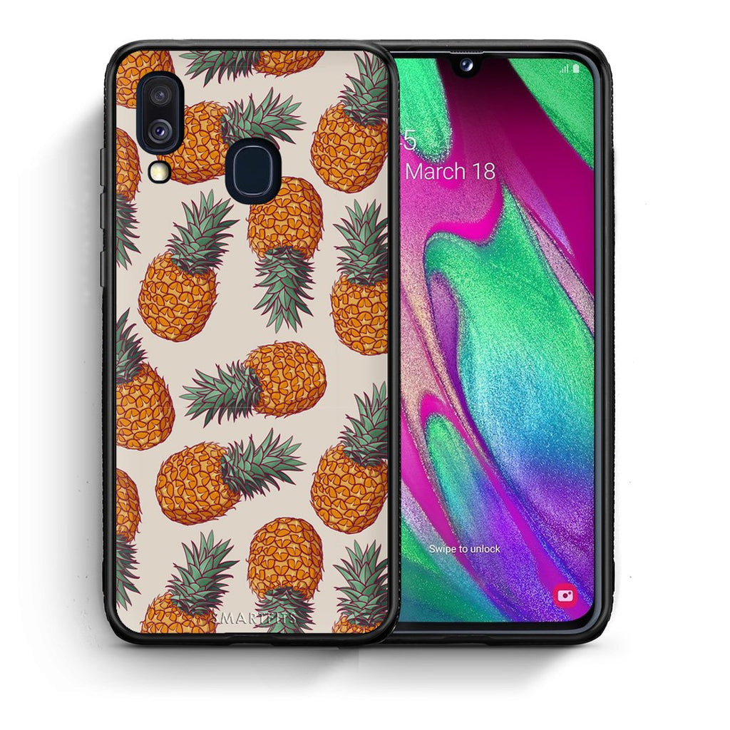 99 - Samsung A40  Summer Real Pineapples case, cover, bumper