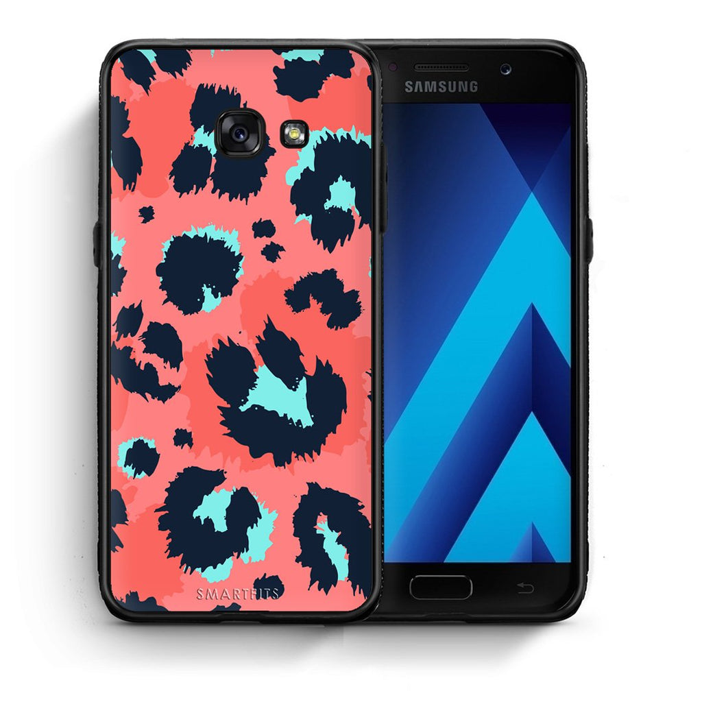 22 - Samsung A5 2017 Pink Leopard Animal case, cover, bumper