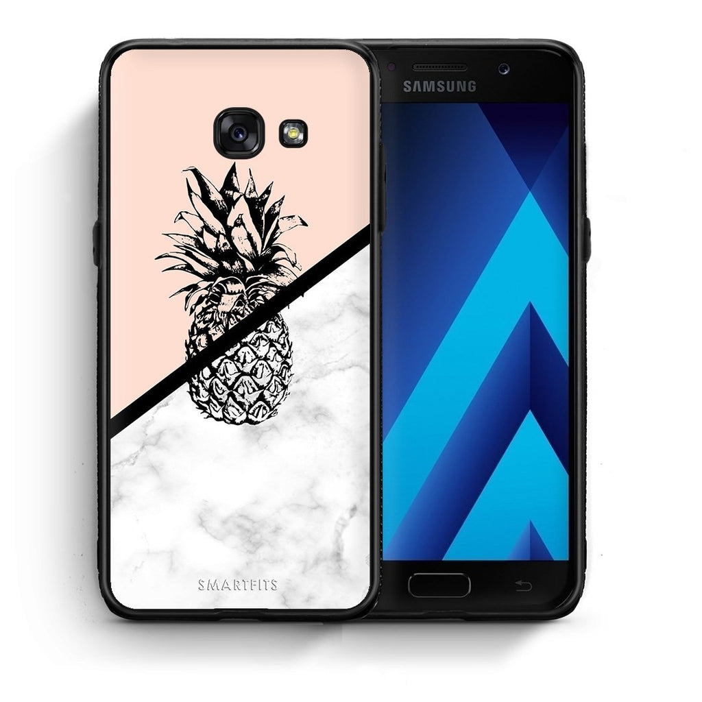 4 - Samsung A5 2017 Pineapple Marble case, cover, bumper