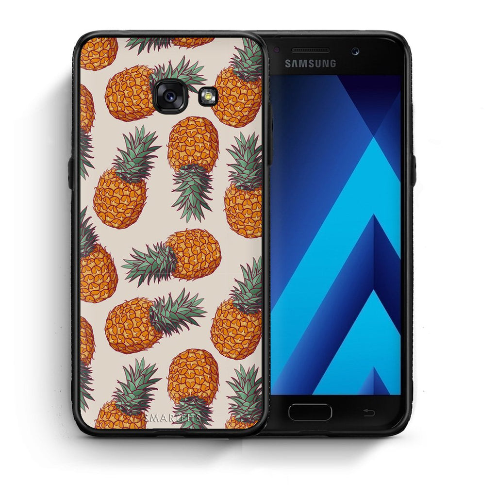 99 - Samsung A5 2017 Summer Real Pineapples case, cover, bumper