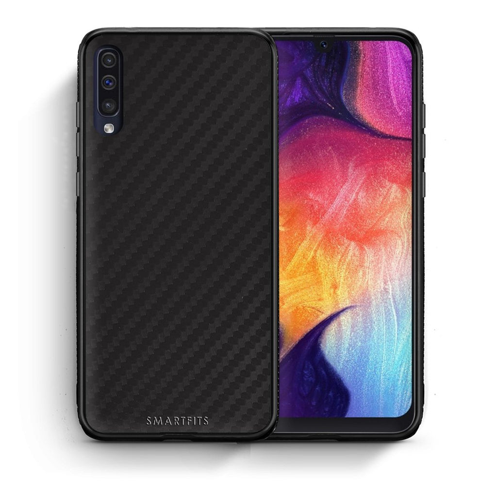 0 - samsung galaxy a50 Black Carbon case, cover, bumper