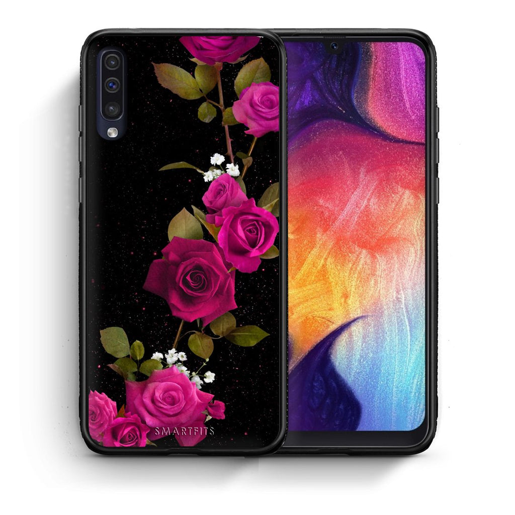 4 - samsung a50 Red Roses Flower case, cover, bumper