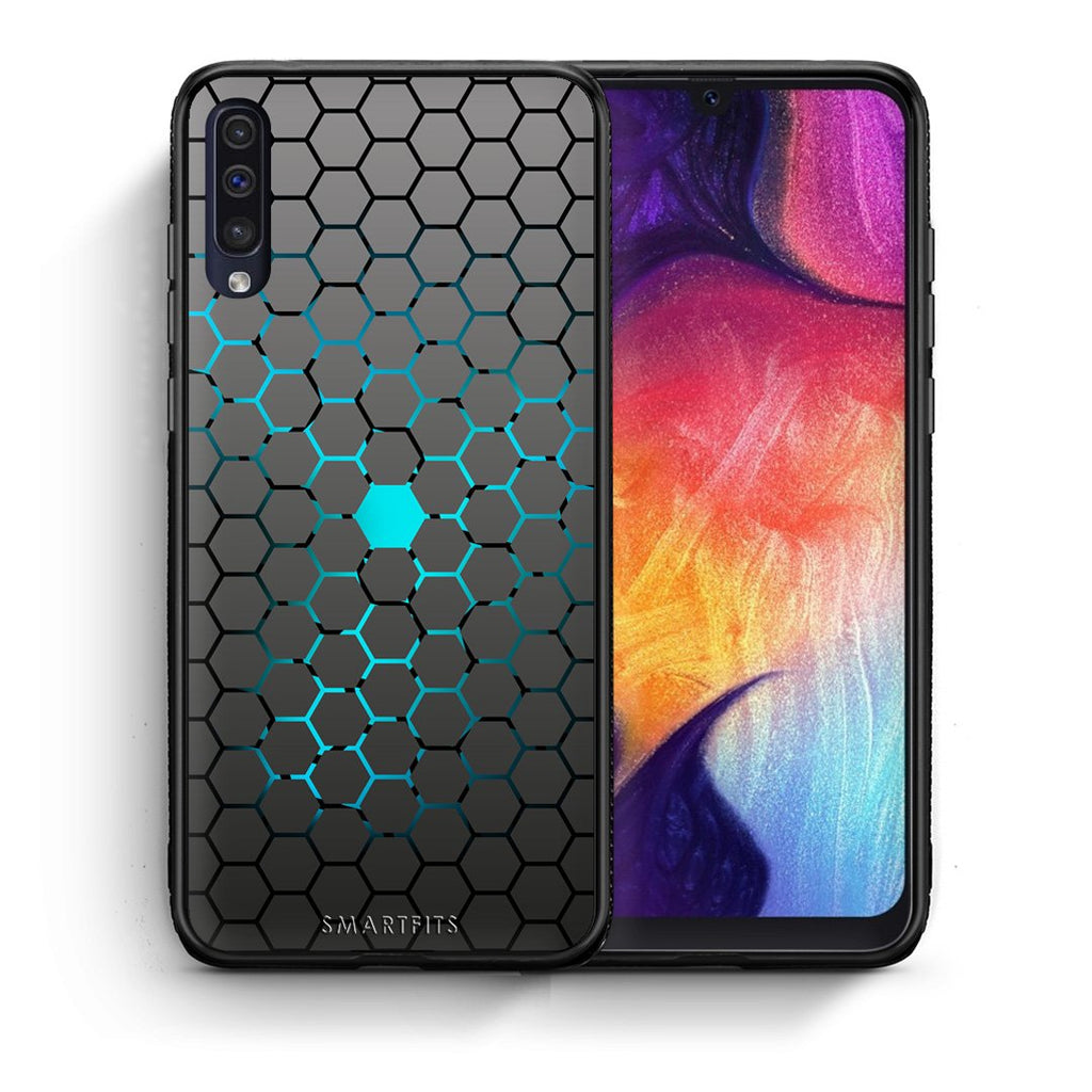 40 - samsung galaxy a50 Hexagonal Geometric case, cover, bumper