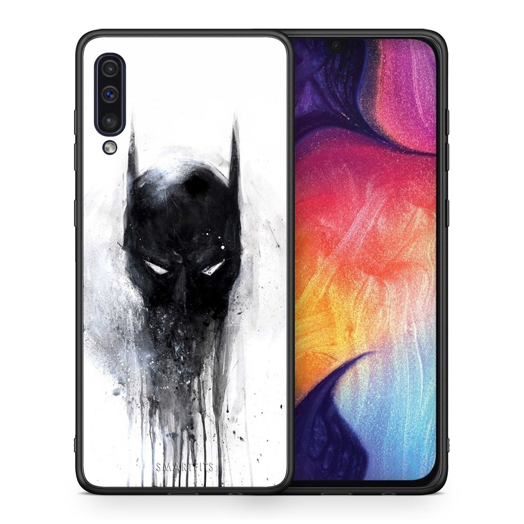 4 - samsung a50 Paint Bat Hero case, cover, bumper