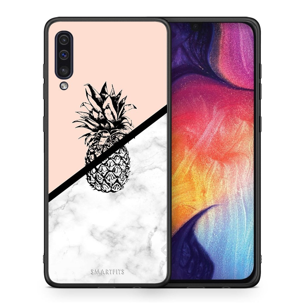 4 - samsung a50 Pineapple Marble case, cover, bumper