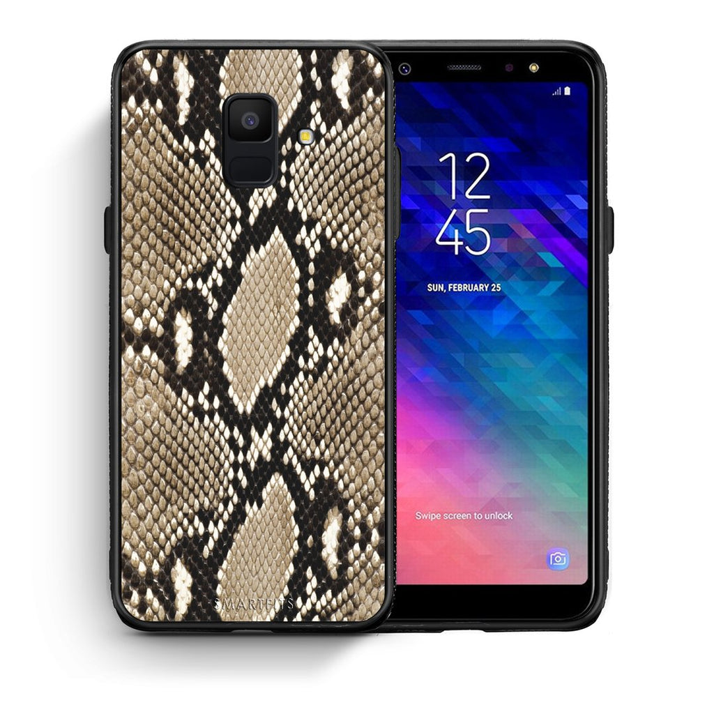 23 - samsung galaxy A6  Fashion Snake Animal case, cover, bumper