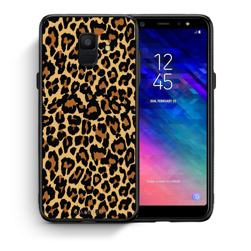 21 - samsung galaxy A6  Leopard Animal case, cover, bumper