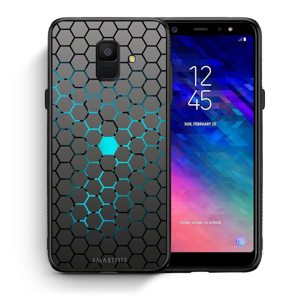 40 - samsung galaxy A6  Hexagonal Geometric case, cover, bumper
