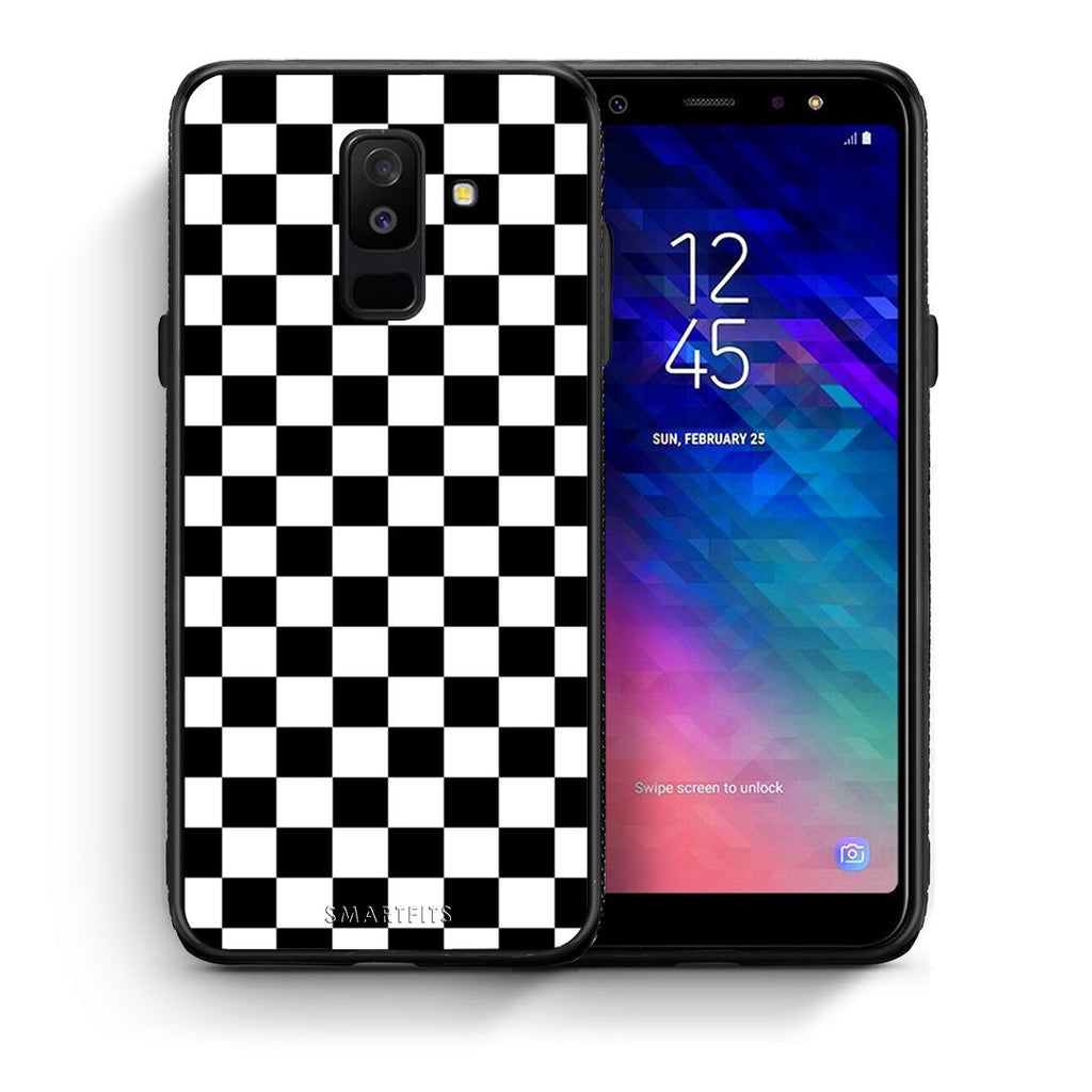 4 - samsung A6 Plus Squares Geometric case, cover, bumper