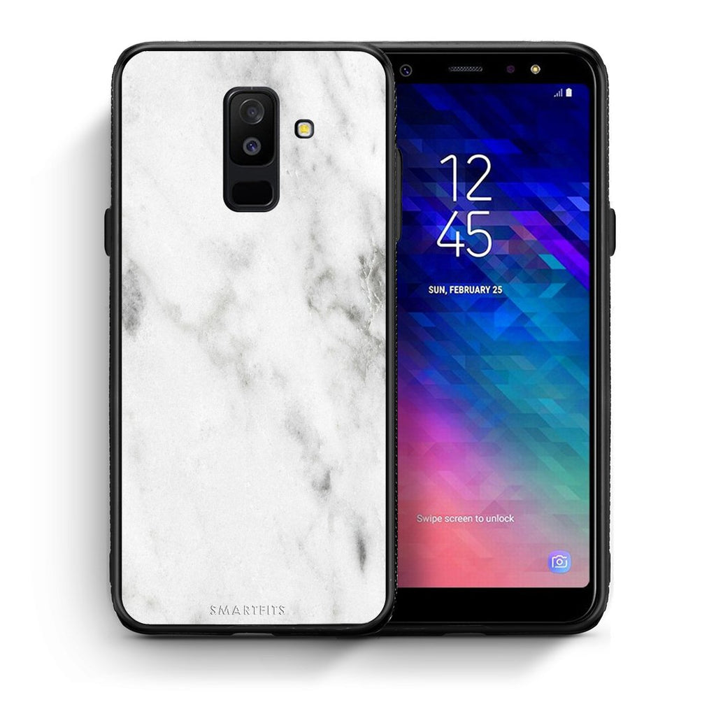 2 - samsung galaxy A6 Plus  White marble case, cover, bumper