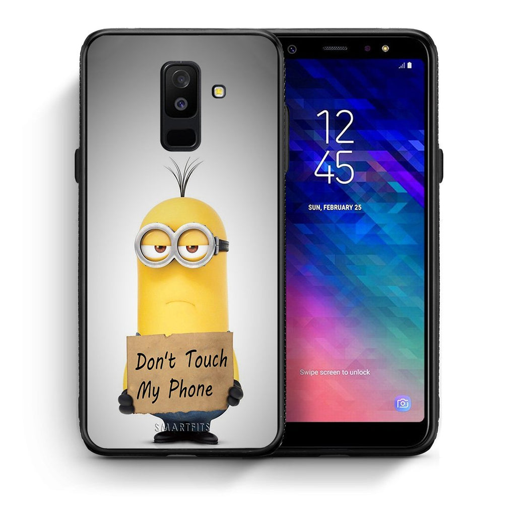4 - samsung A6 Plus Minion Text case, cover, bumper