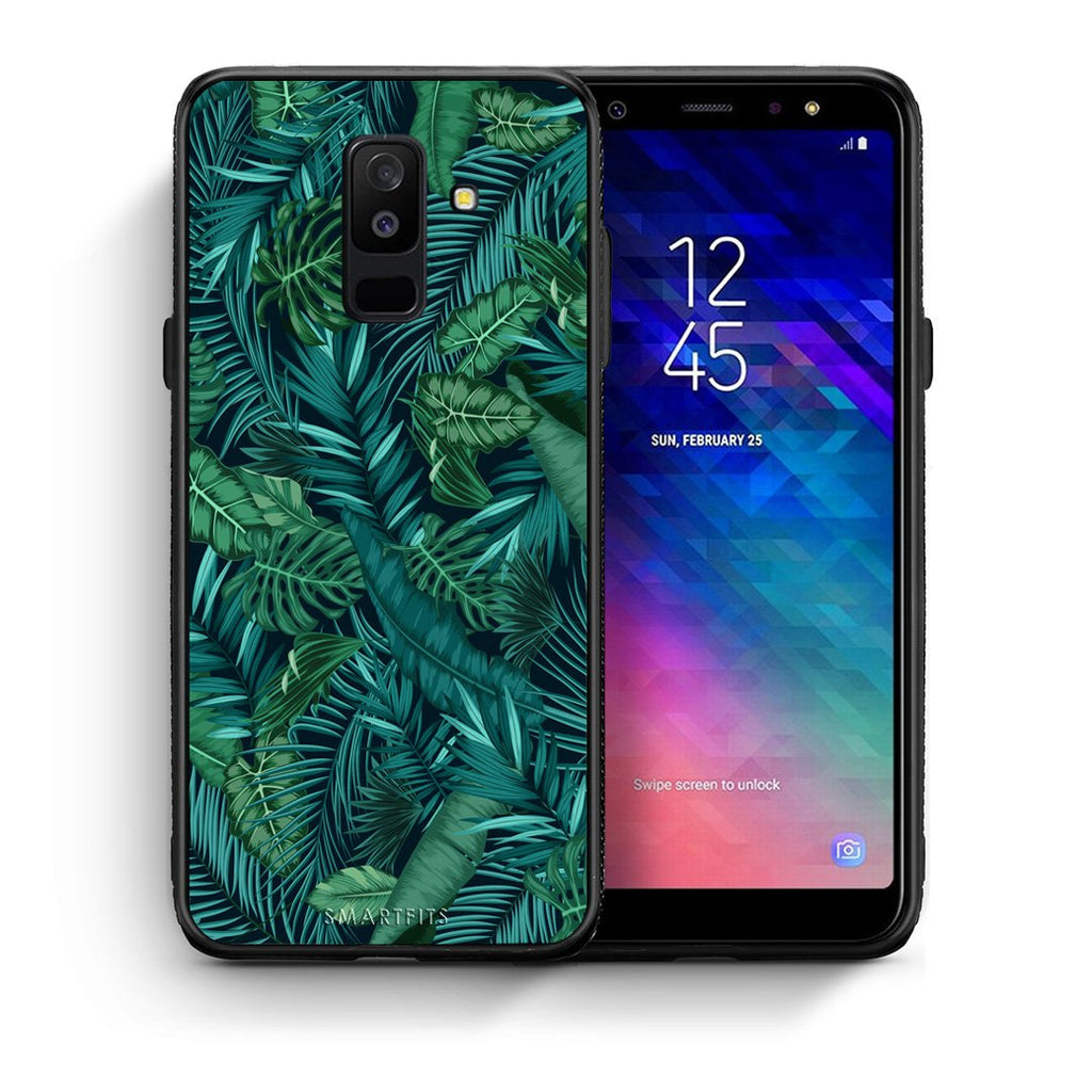 99 - samsung galaxy A6 Plus  Tropic Leaves case, cover, bumper