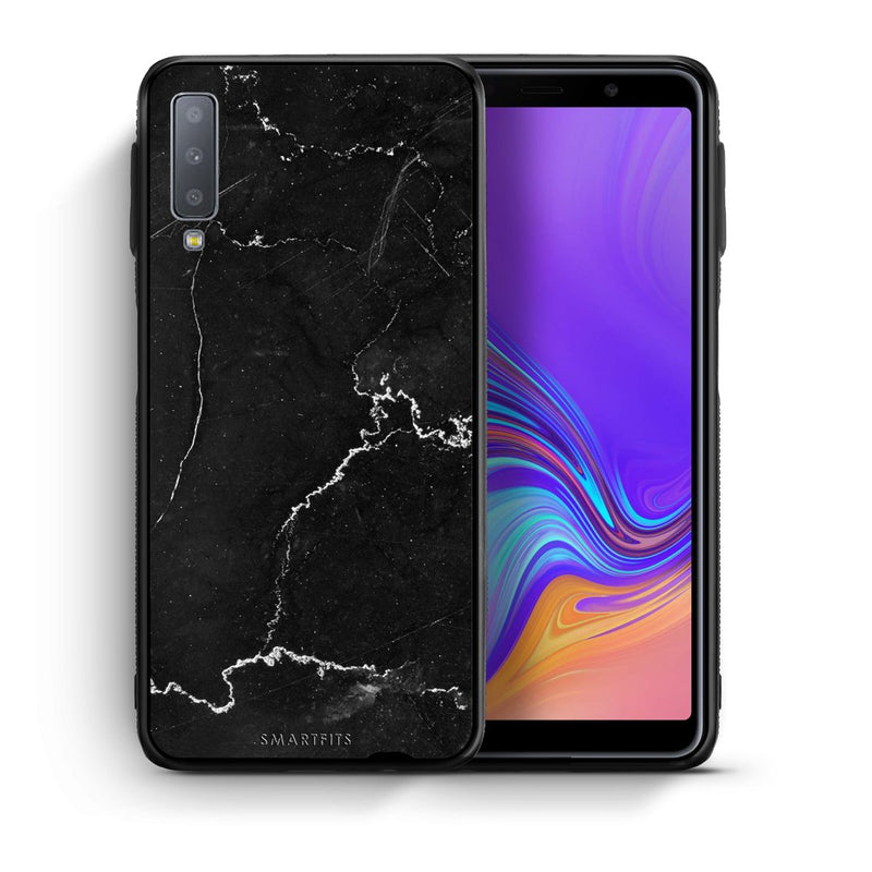 1 - samsung galaxy A7  black marble case, cover, bumper