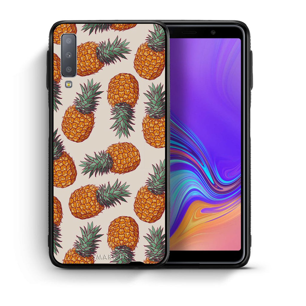 99 - samsung galaxy A7  Summer Real Pineapples case, cover, bumper