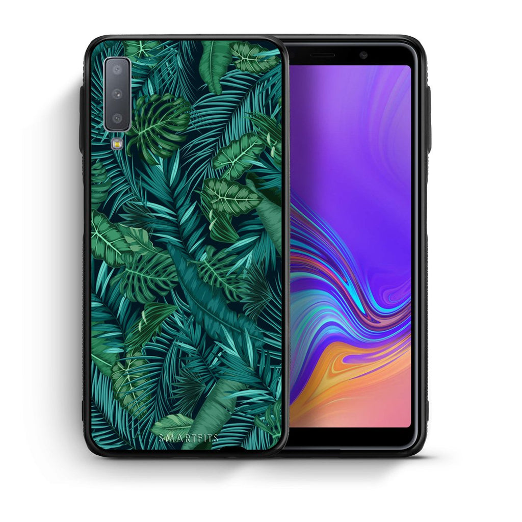 99 - samsung galaxy A7  Tropic Leaves case, cover, bumper