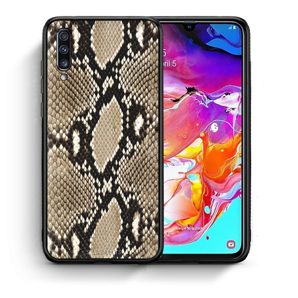23 - Samsung A70  Fashion Snake Animal case, cover, bumper
