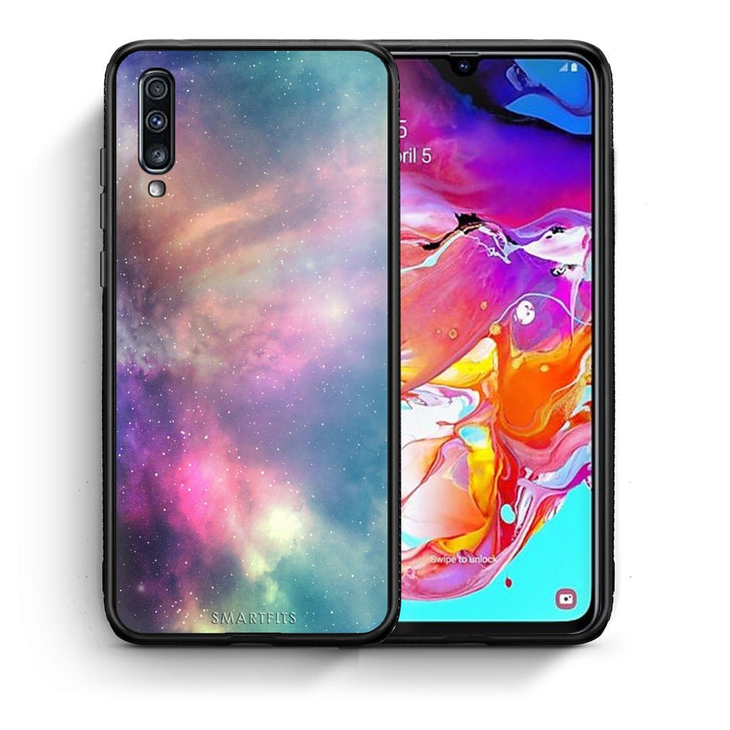 105 - Samsung A70  Rainbow Galaxy case, cover, bumper