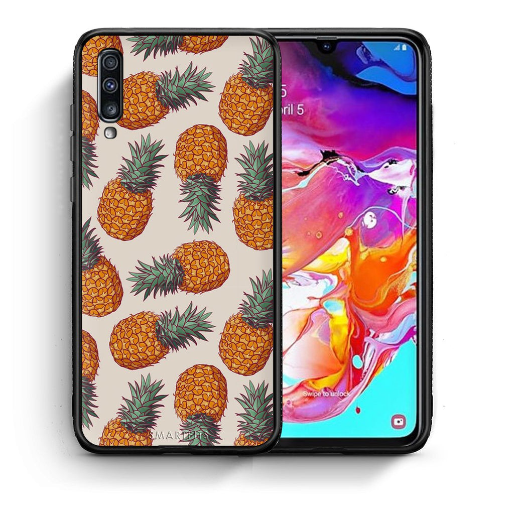 99 - Samsung A70  Summer Real Pineapples case, cover, bumper