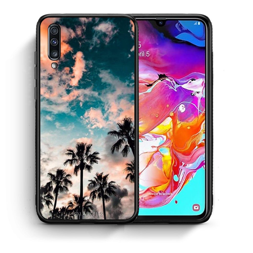 99 - Samsung A70  Summer Sky case, cover, bumper