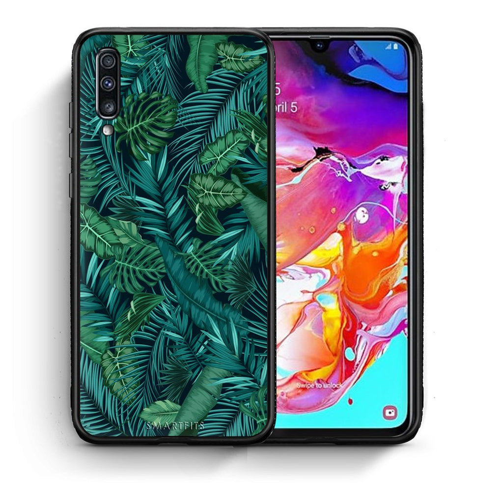 99 - Samsung A70  Tropic Leaves case, cover, bumper