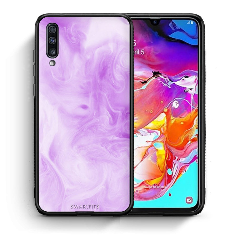 99 - Samsung A70  Watercolor Lavender case, cover, bumper