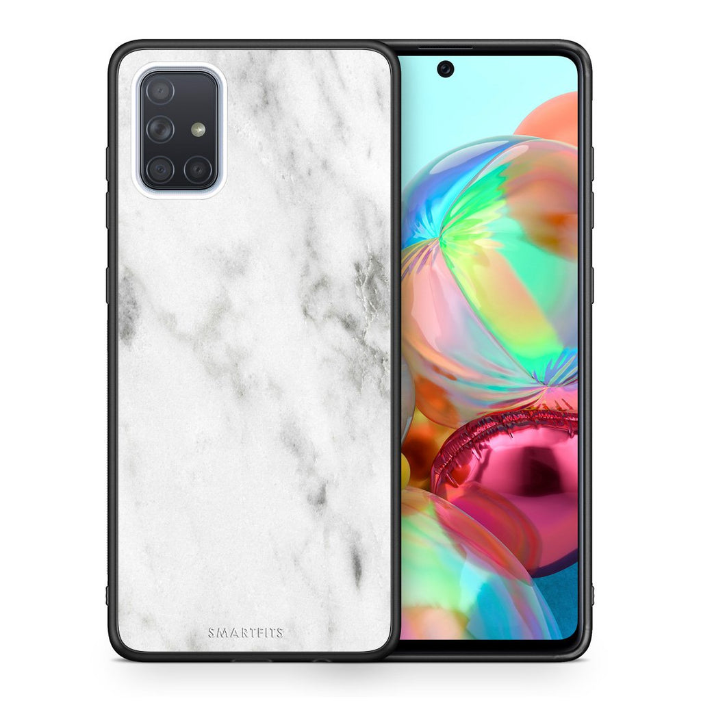 2 - Samsung A71 White marble case, cover, bumper