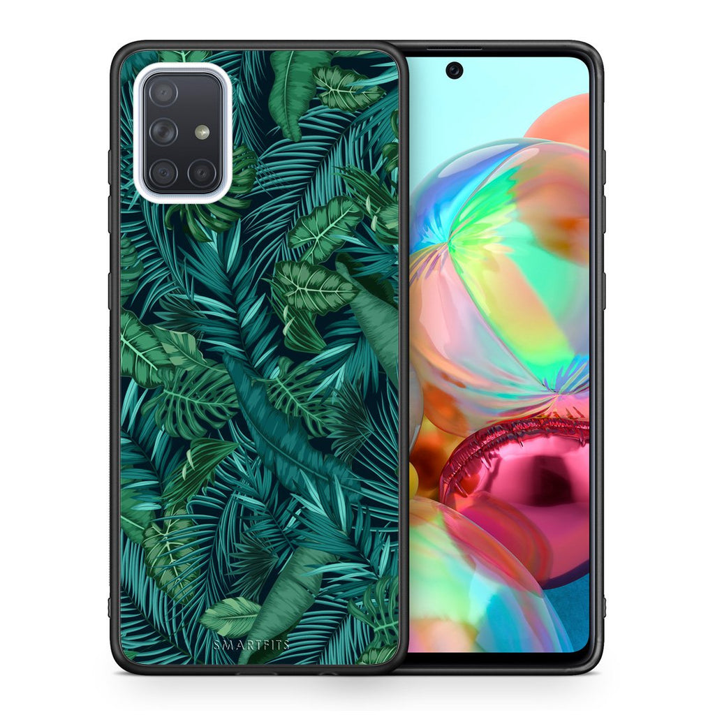 99 - Samsung A71 Tropic Leaves case, cover, bumper