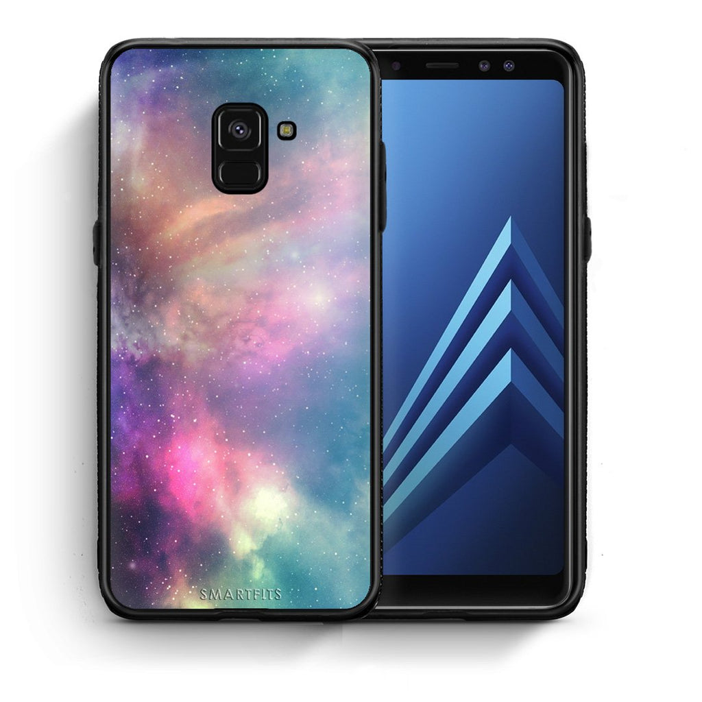 105 - Samsung A8  Rainbow Galaxy case, cover, bumper