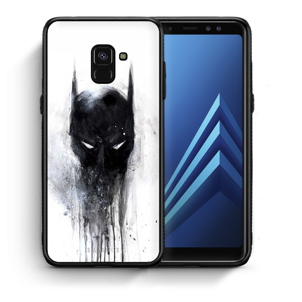 4 - Samsung A8 Paint Bat Hero case, cover, bumper