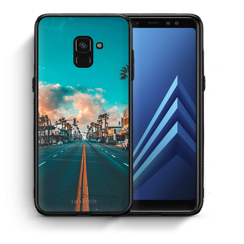 4 - Samsung A8 City Landscape case, cover, bumper
