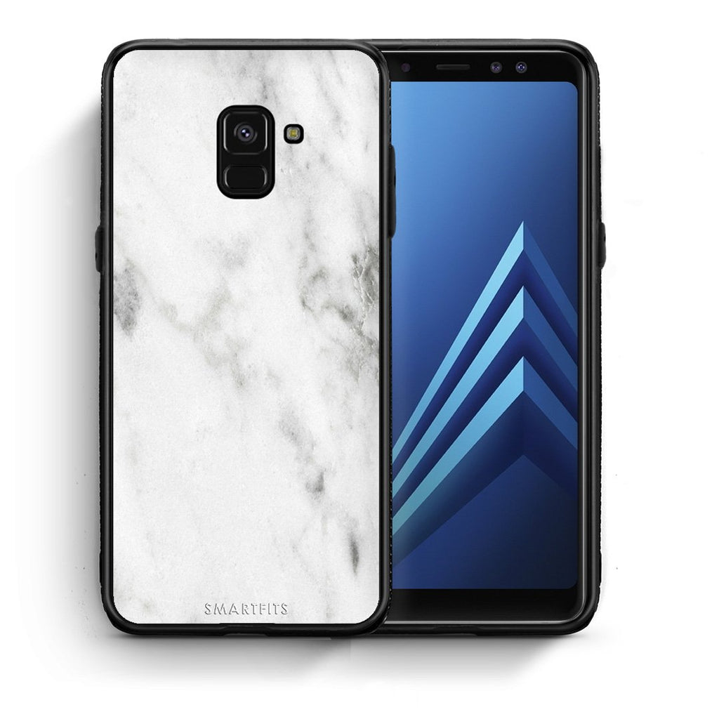 2 - Samsung A8  White marble case, cover, bumper